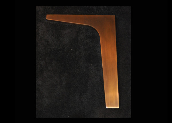 Boomerang Leg in Bronze