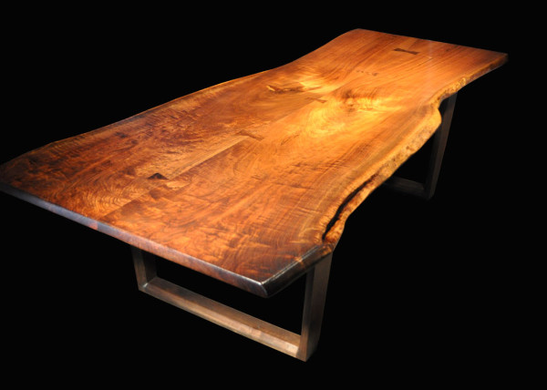 Book-matched Black Walnut with Claro-walnut Butterfly Table Joinery