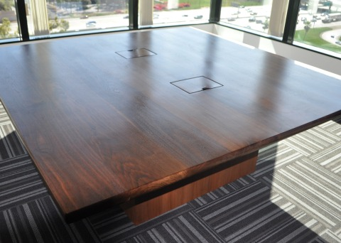 Square Black Walnut Tall Tree Conference Table