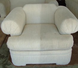 Upholstery Cleaning - Before and After
