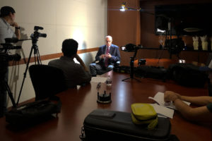 IMG: Documentary crew interviews Richard Bowen/