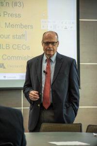 Image: Richard M. Bowen speaking at fraud conference