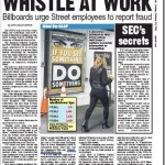 Billboards Urge Wall Street Employees to Report Financial Crimes with Whistleblow Wall Street Campaign