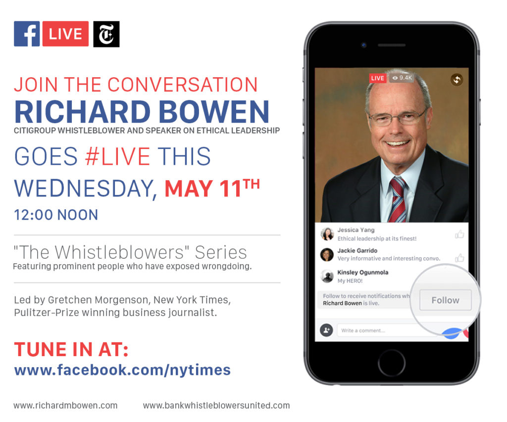 Richard Bowen goes FBLive (1)