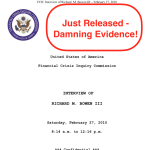 Now We Know — The DOJ Ignored Two FCIC Citi Criminal Referrals!