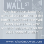 The Elephant in the Room – Why no TBTF Prosecutions?