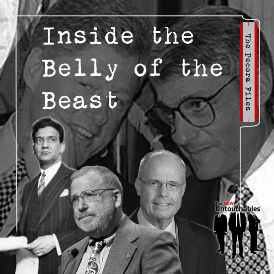 Image: Cover of The Pecora Files: Inside the Belly of the Beast podcast