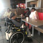 Participants enjoying lunch at Burger King