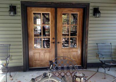 Wood double door in Gainesville GA