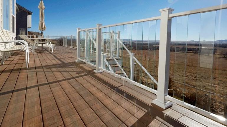 Glass Railing Fortress Style