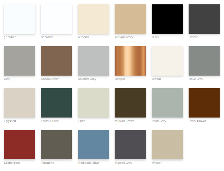 Gutter Colors at Patriot Building Supply