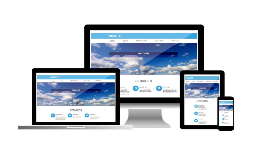 website on computer laptop tablet phone
