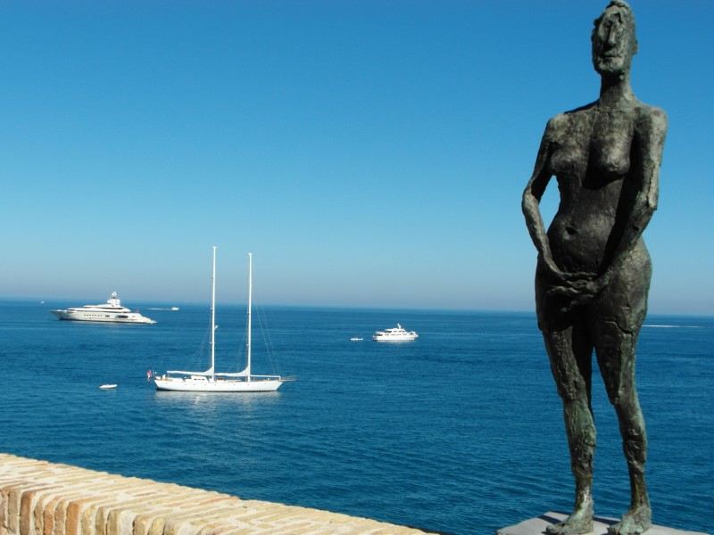 Antibes : A view from the terrasse of the Musee Picasso in Antibes