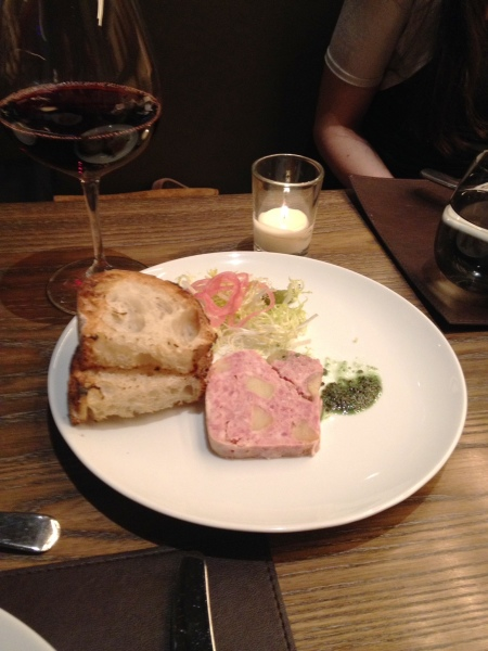 Pate de Campagne, frisee, whole grain mustard, country bread