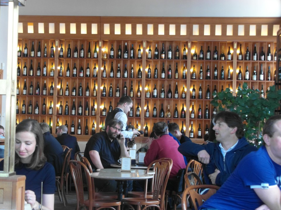 Cafe Savoy in Prague - the wine room
