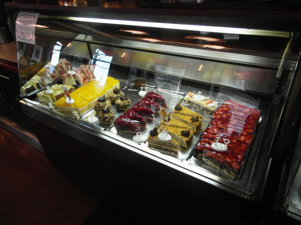 Cafe Slavia pastry display