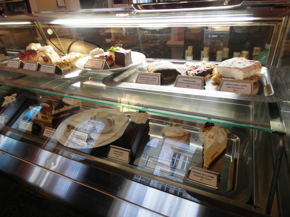 Cafe Louvre pastry display
