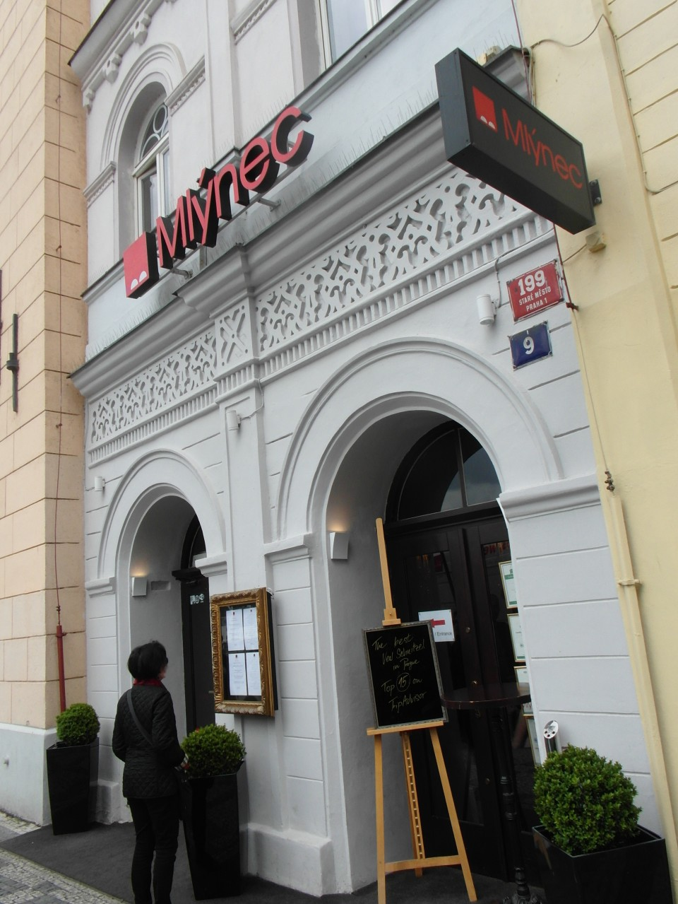 Mlynec Restaurant in the old town district of Prague
