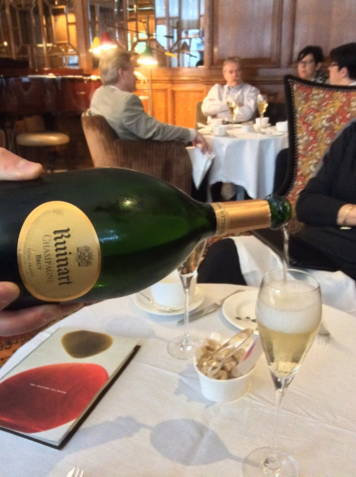 Afternoon Tea at the English Tea Room : Ruinart Champagne aperitif