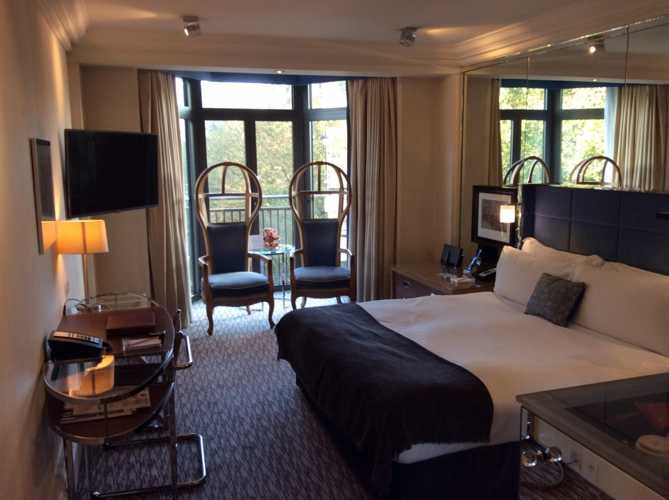 Park View room at the Athenaeum Hotel in London, England