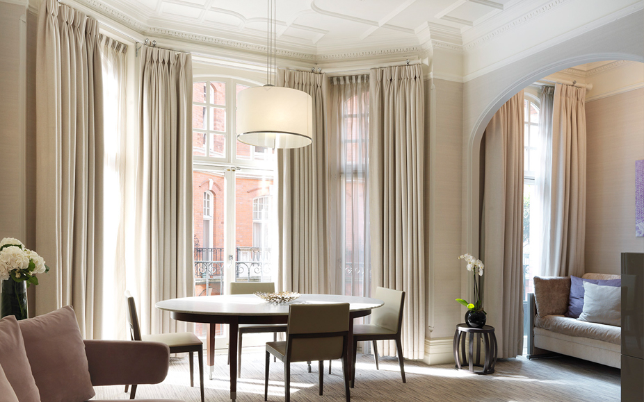 Dining area of an apartment at Athenaeum Hotel and Apartments in London, England