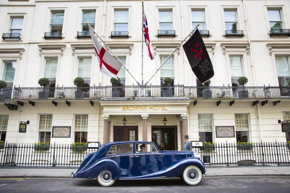 Brown's Hotel on Albemarle Street in Mayfair, London, England