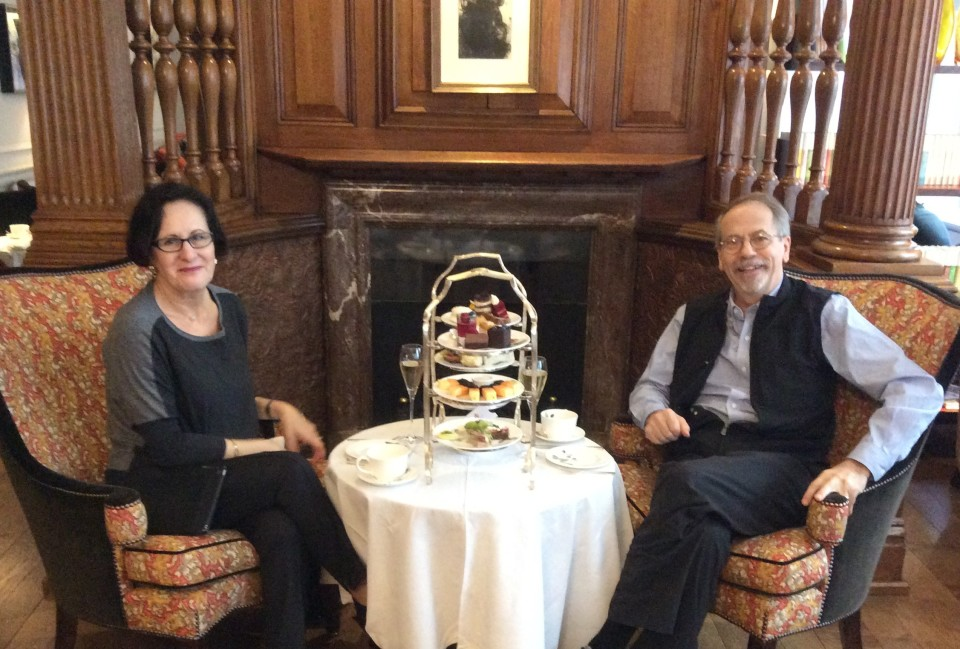 Afternoon Tea at The English Tea Room of Brown's Hotel in London, England
