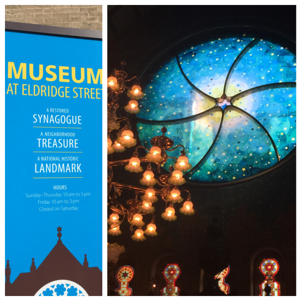 The Museum at Eldridge Street and their glorious new back window by the artist, Kiki Smith