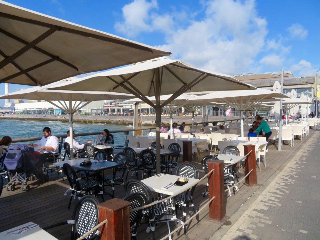 Tel Aviv Beach : Restaurants and shops now occupy the buildings of the Old Port of Tel Aviv