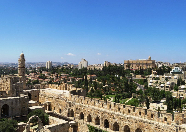 King David Hotel, Jerusalem Israel - King David Hotel overlooking the walls of Old City of Jerusalem