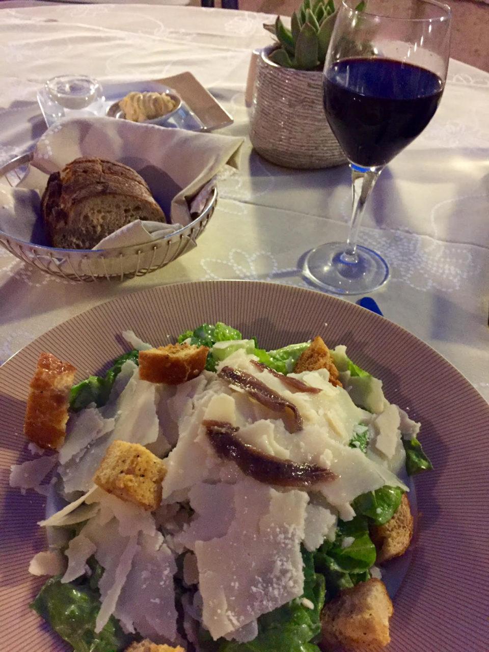 King David Hotel, Jerusalem Israel - Caesar Salad at the King's Garden restaurant