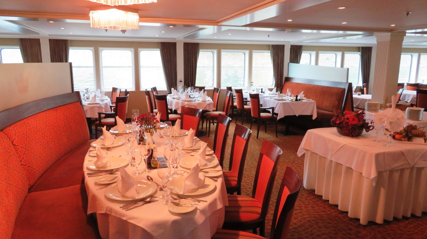 Main Dining Restaurant of the AMALegro (Paris and Normandie AMAWaterways Cruise)