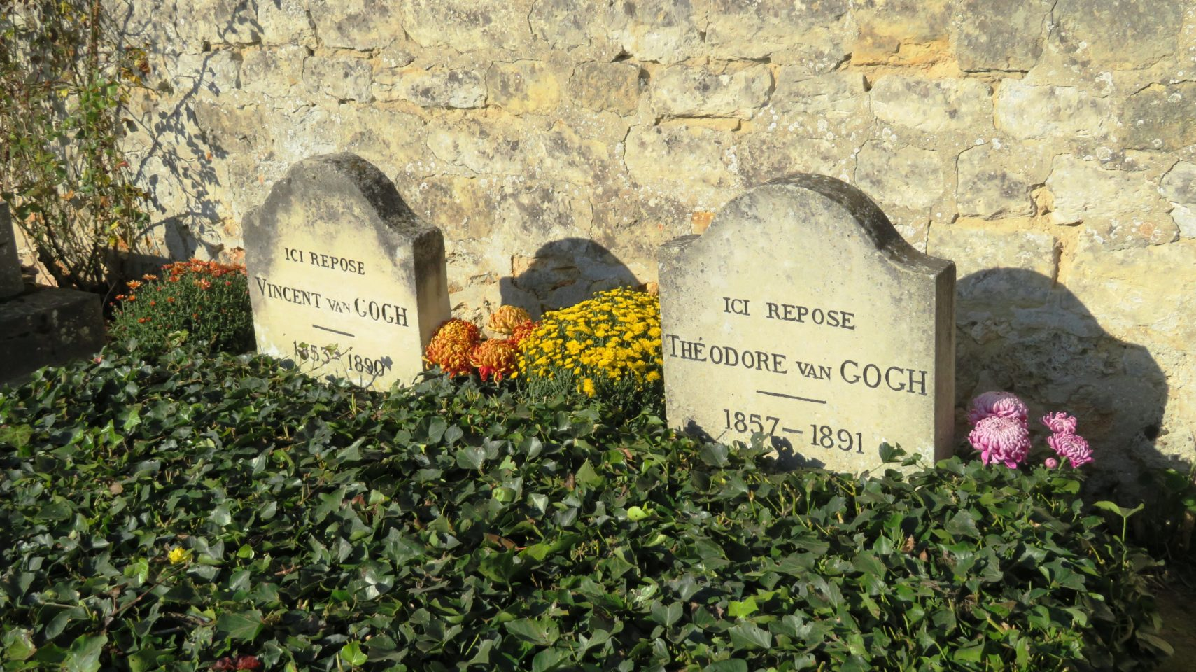 The resting place of the Van Goghs at the cemetery of Auvers-sur-Oise, France (Paris and Normandie AMAWaterways Cruise)