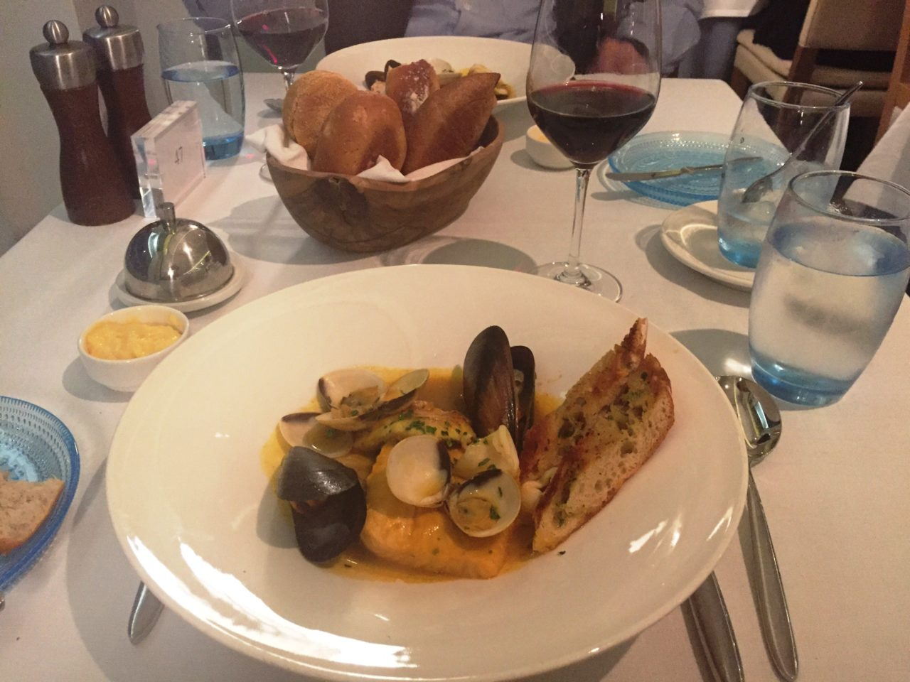 <em><strong>Viking Ocean Cruise Ships ~</strong> </em> Bouillabaisse Toulonnaise in the Restaurant of the Viking Star
