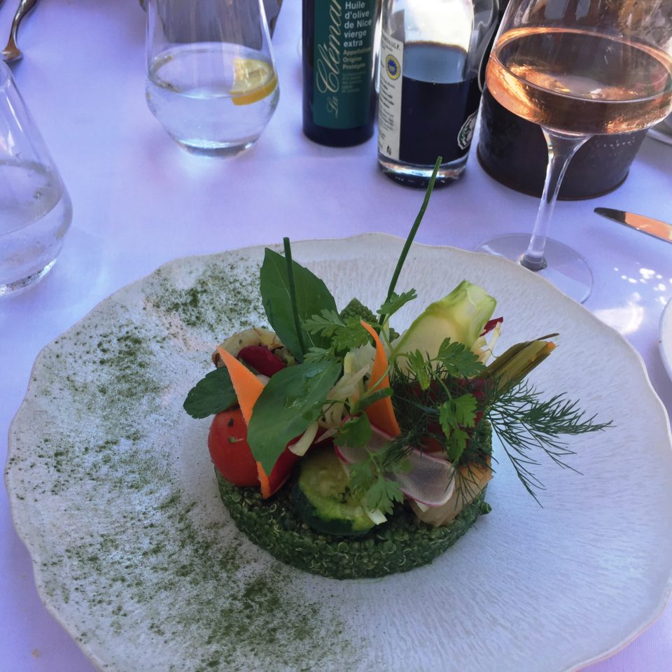 Exquisite Vegetarian Salad at La Mere Germaine in Villefranche-sur-Mer near Nice ~ When in Nice, we live to eat !