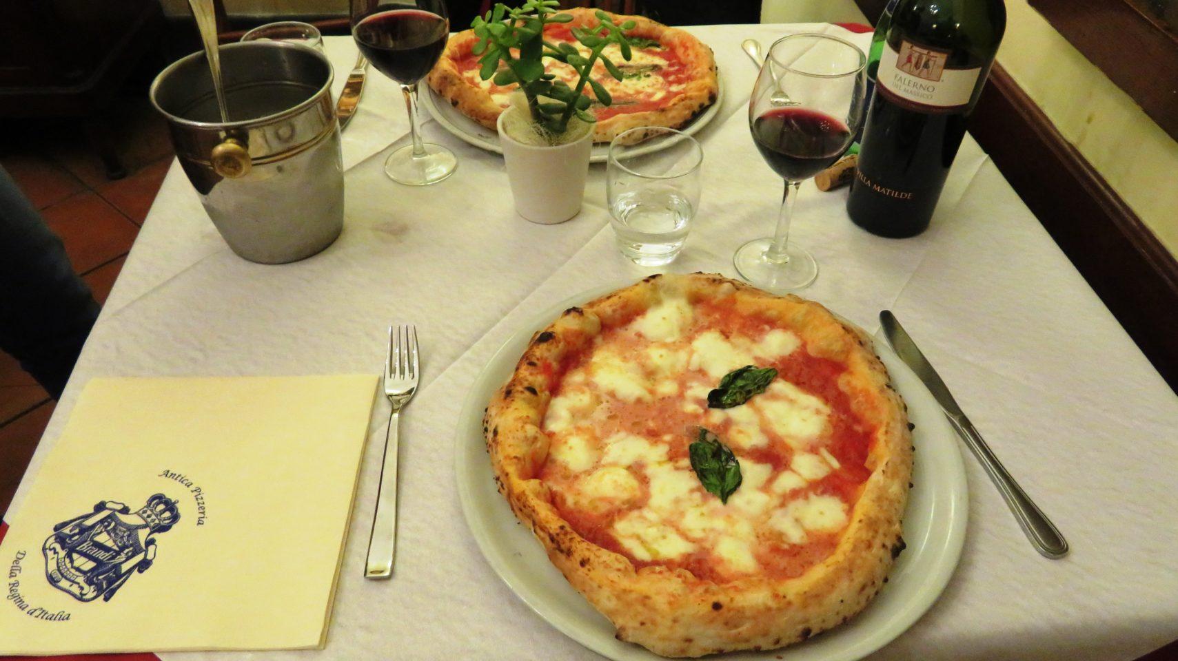 Pizza Margherita at Pizzeria Brandi in Naples Italy