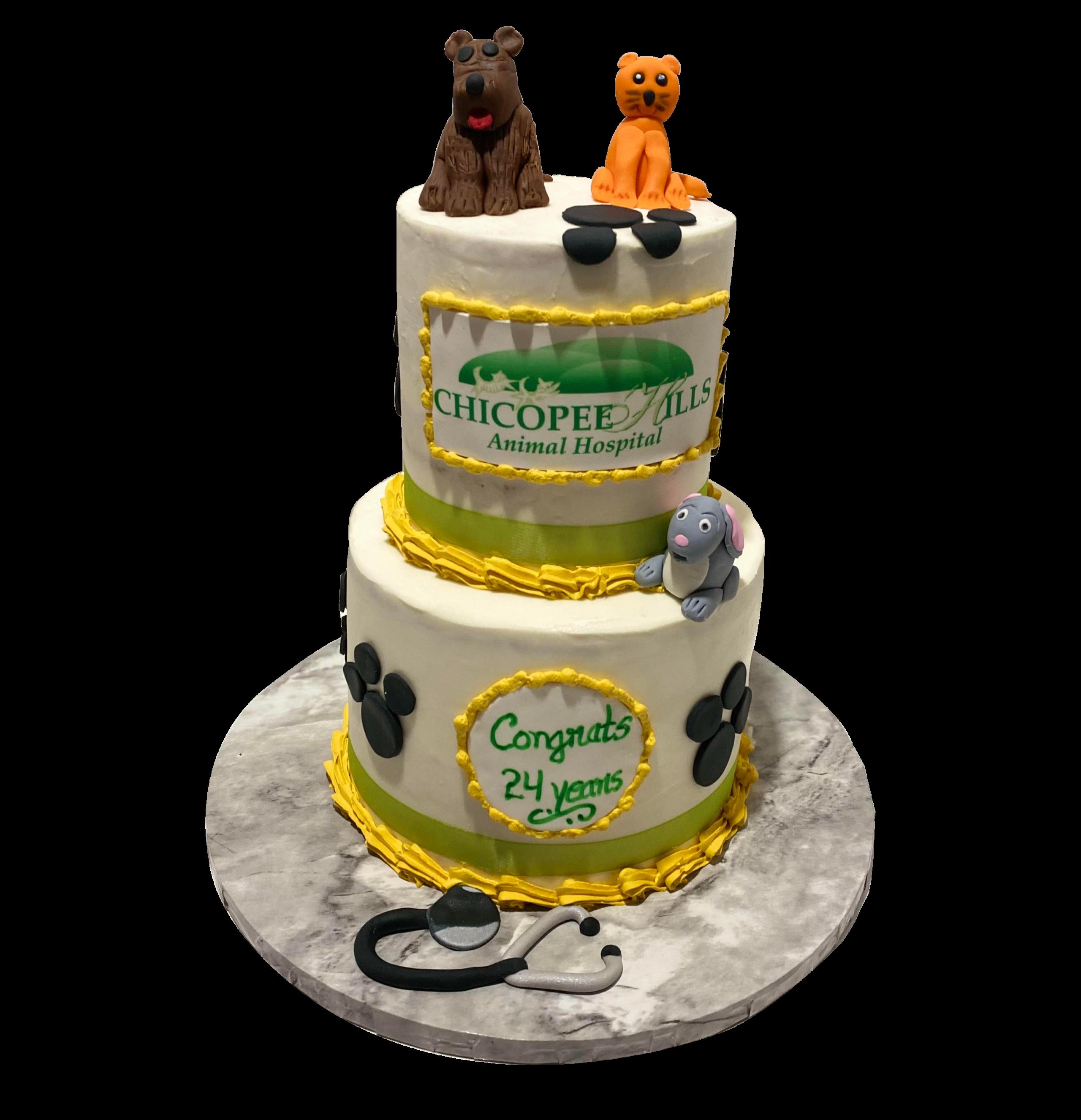 Animal Hospital Anniversary cake