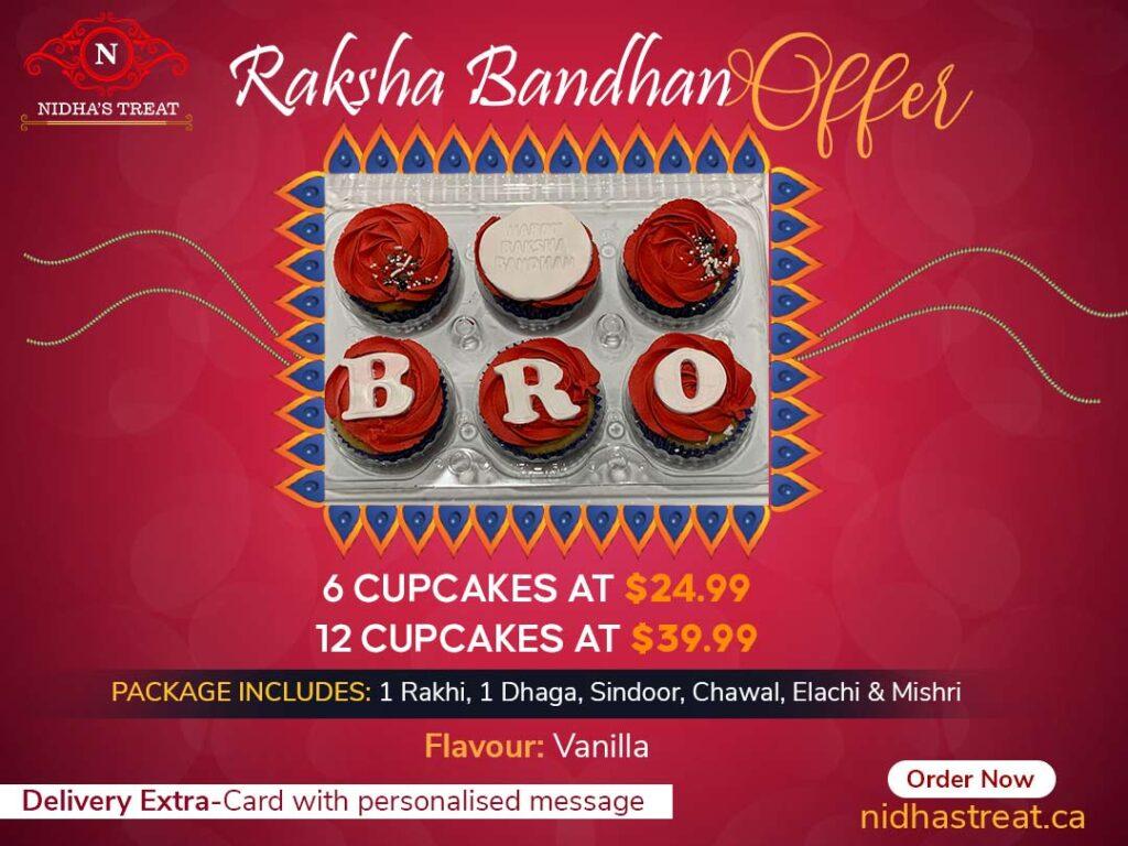 rakhi graphic that gives detail about pricing of rakhi package