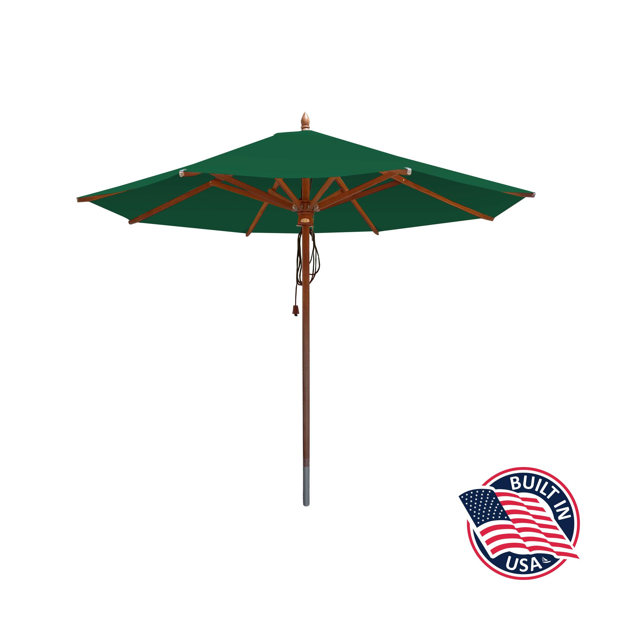9′ Octagon African Mahogany Umbrella