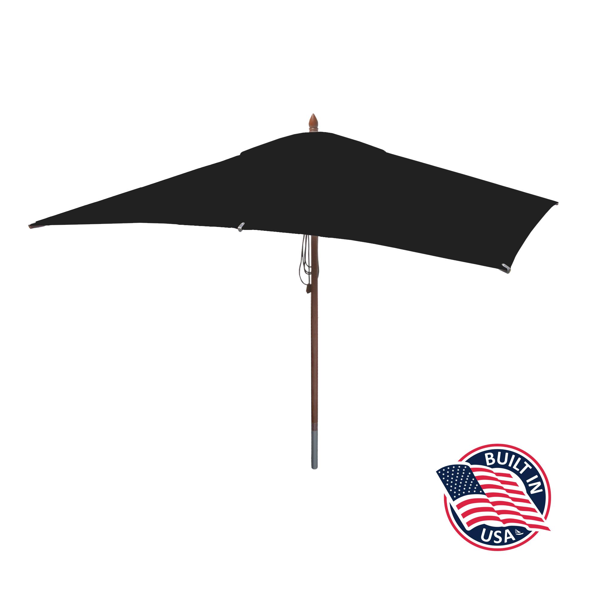 10′ x 6.5′ Rectangle African Mahogany Umbrella