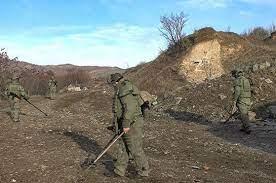 Ռուս խաղաղապահների աշխատանքը Լեռնային Ղարաբաղում