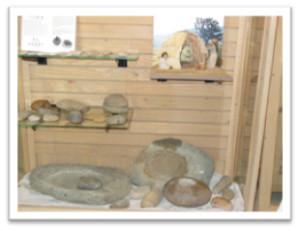 Framed wickiup & rocks