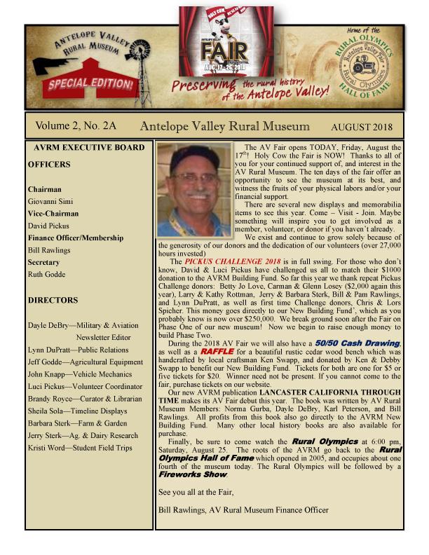 Newsletter Aug Vol.2, No.2A