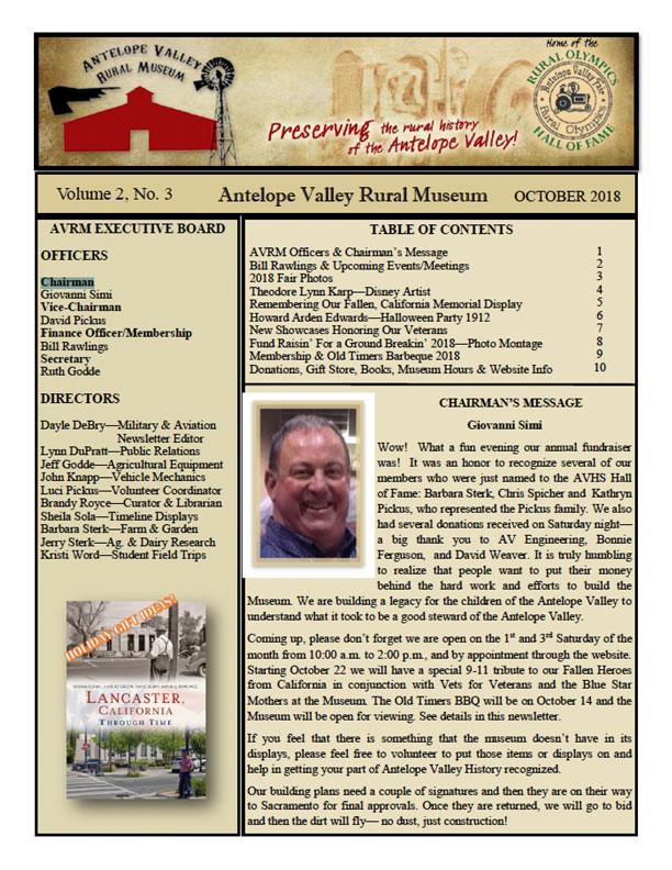 Newsletter Oct Vol.2, No.3