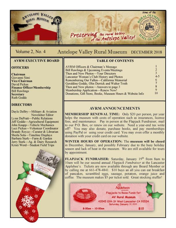 Newsletter Dec Vol.2, No.4