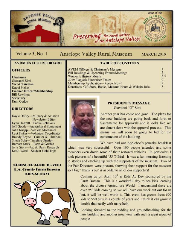 Newsletter Mar Vol.3, No.1
