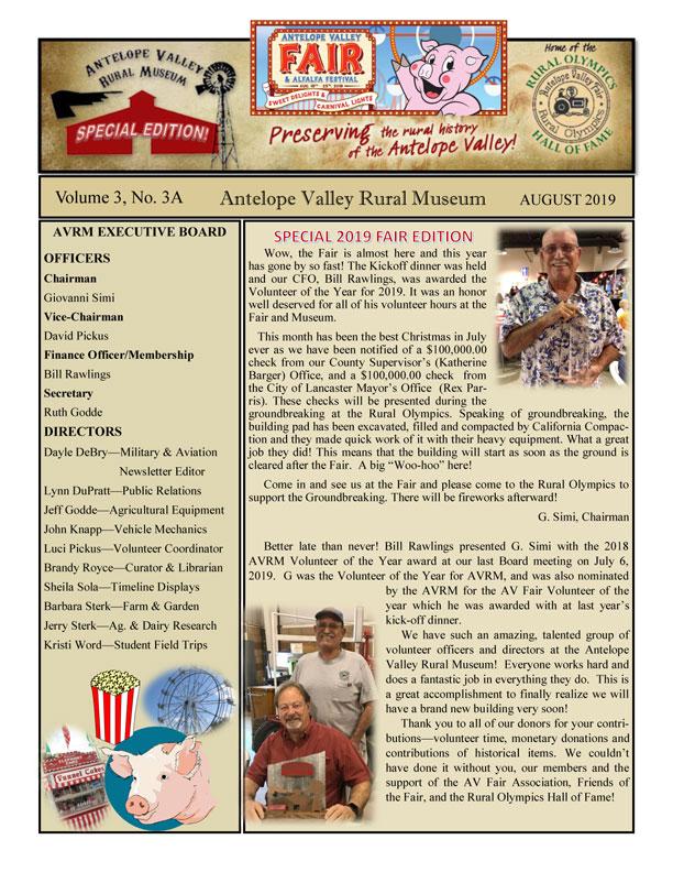 Newsletter Aug Vol.3, No.3