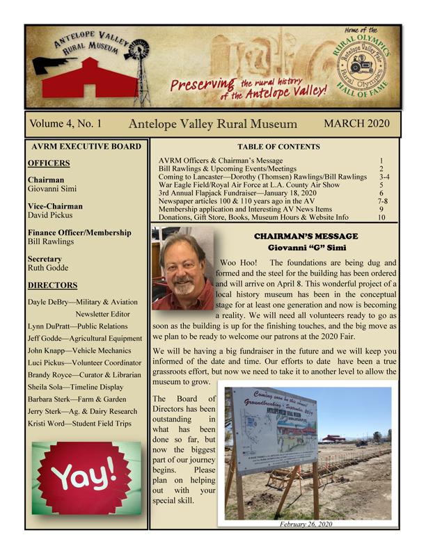 Newsletter Mar Vol.4, No.1