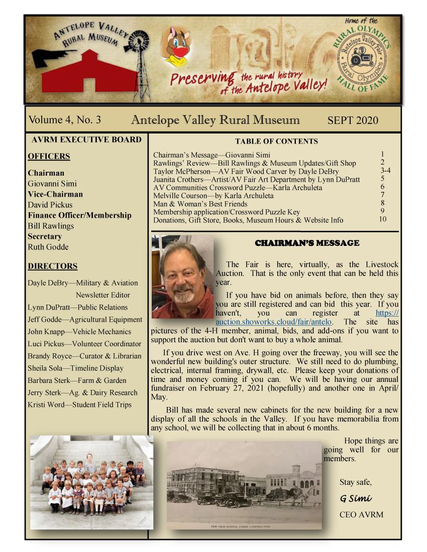 Newsletter Aug Vol.4, No.3