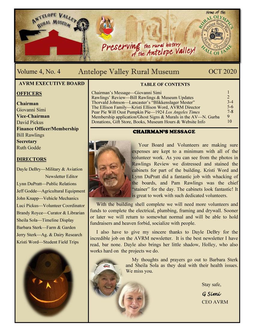 Newsletter Oct Vol.4, No.4